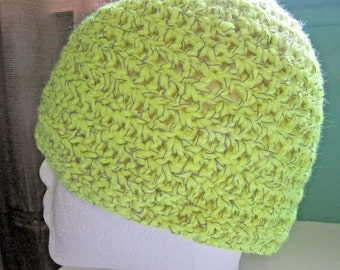 Glow in The Dark Hat Reflective Neon Yellow Cap Cycling Jog Night Beanie Crochet knit Safety Mans Womans Unique Gift