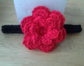 Crochet baby girl headband, headband, Flower Headband, Handmade headband, sizes newborn-12 months
