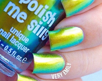 NEW-Legacy-Mega Multichrome Multi-Color Shifting Polish:  Custom-Blended Glitter Nail Polish / Indie Lacquer / Polish Me Silly