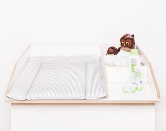 changing pad 50 x 73 cm changing mat for 80 cm Ikea chest of drawers free from pollutants and washable strips grey striped