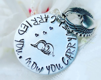 Mommy of Angel, Angel Necklace, Bereavement Gift, Remembrance Necklace, In Memory Of Jewelry, Memorial Necklace, Infant Loss Jewelry, Child