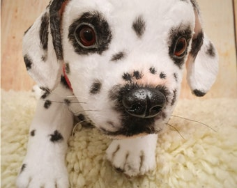 Dalmatians puppy / dog 11,8 in realistic toy MADE TO ORDER
