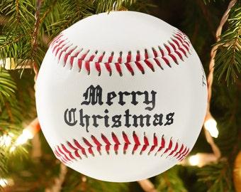 Personalized Custom Baseball Christmas Ornament