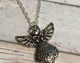 Angel necklace, cute angel pendant, angel charm necklace, pendant, angel gift, ladies gift, ladies necklace, angel charm pendant, angel,