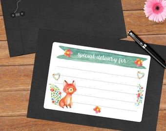 Joyful fox - 8 mailing labels