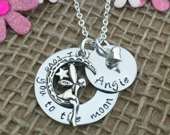 I Love You to the Moon and Back, Mother's Day Gift, Personalised Gift Ideas, Gift for Mum, Personalised Necklace, Women's Necklace