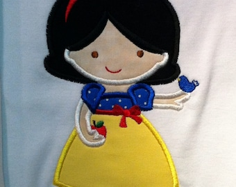 Personalized Cutie Snowy White-inspired fairy princess shirt