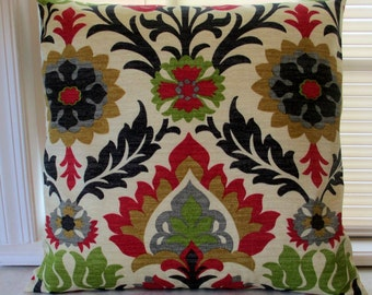 NEW Collection  Designer Throw Pillow Cover Waverly  Santa Maria Adobe Indoor Outdoor-Throw Pillow -Housewares-Home Decor