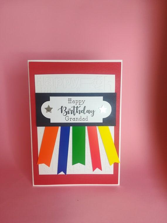 multicoloured glitter star handmade birthday card female