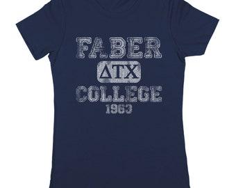 Faber College Funny Animal House Frat Party Women's Jr Fit T-Shirt DT0599