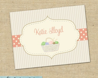 Knitting notecards -- personalized folded notecards -- personalized stationary - knitting stationary