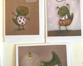 Dinosaur card selection - fun cards for adults and kids