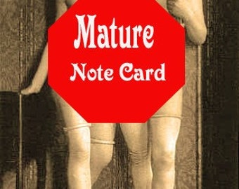 Women in Lust - Intimate Note Card Greeting Card MATURE