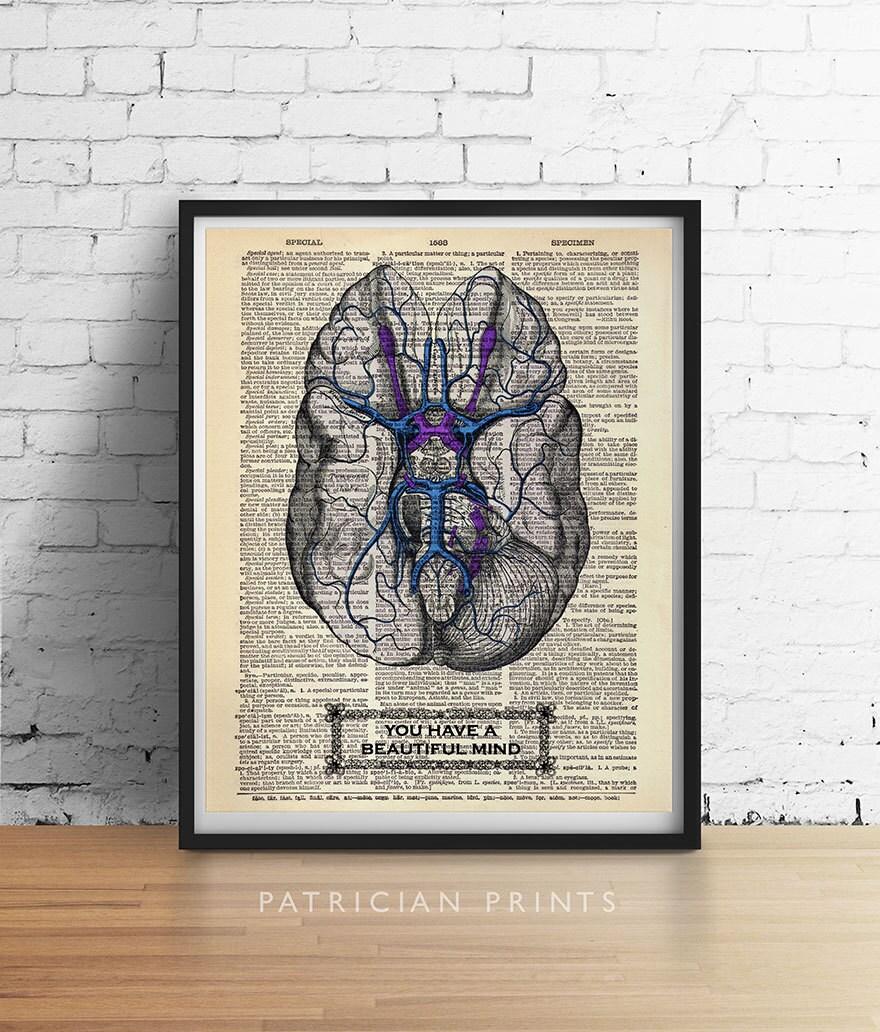 Etsy へようこそ!Etsy へようこそ!Etsy のプライバシー設定            You Have a Beautiful Mind BRAIN Print Anatomy Psychology Illustration Art Print Poster Antique Dictionary Book Page Wall Dorm Office Decor        設定を更新する