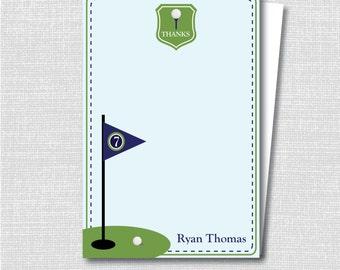 Boy Golf Custom Notecard - Boy Golf Party Thank You - Digital Design or Printed Notecards - FREE SHIPPING