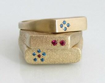 Ruby Ring, Birthstone Ring, Gemstone Ring, 14k Gold Ring, Engagement Gemstone Ring, July Birthstone, Signet Ring