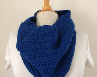 Royal Blue Crocheted Cowl