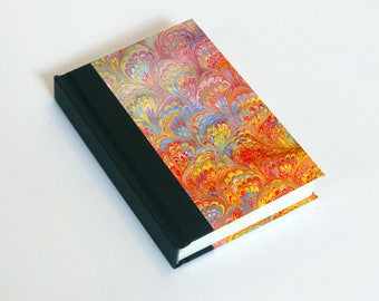 "Sketchbook 4x6"" with motifs of marbled papers - 35"