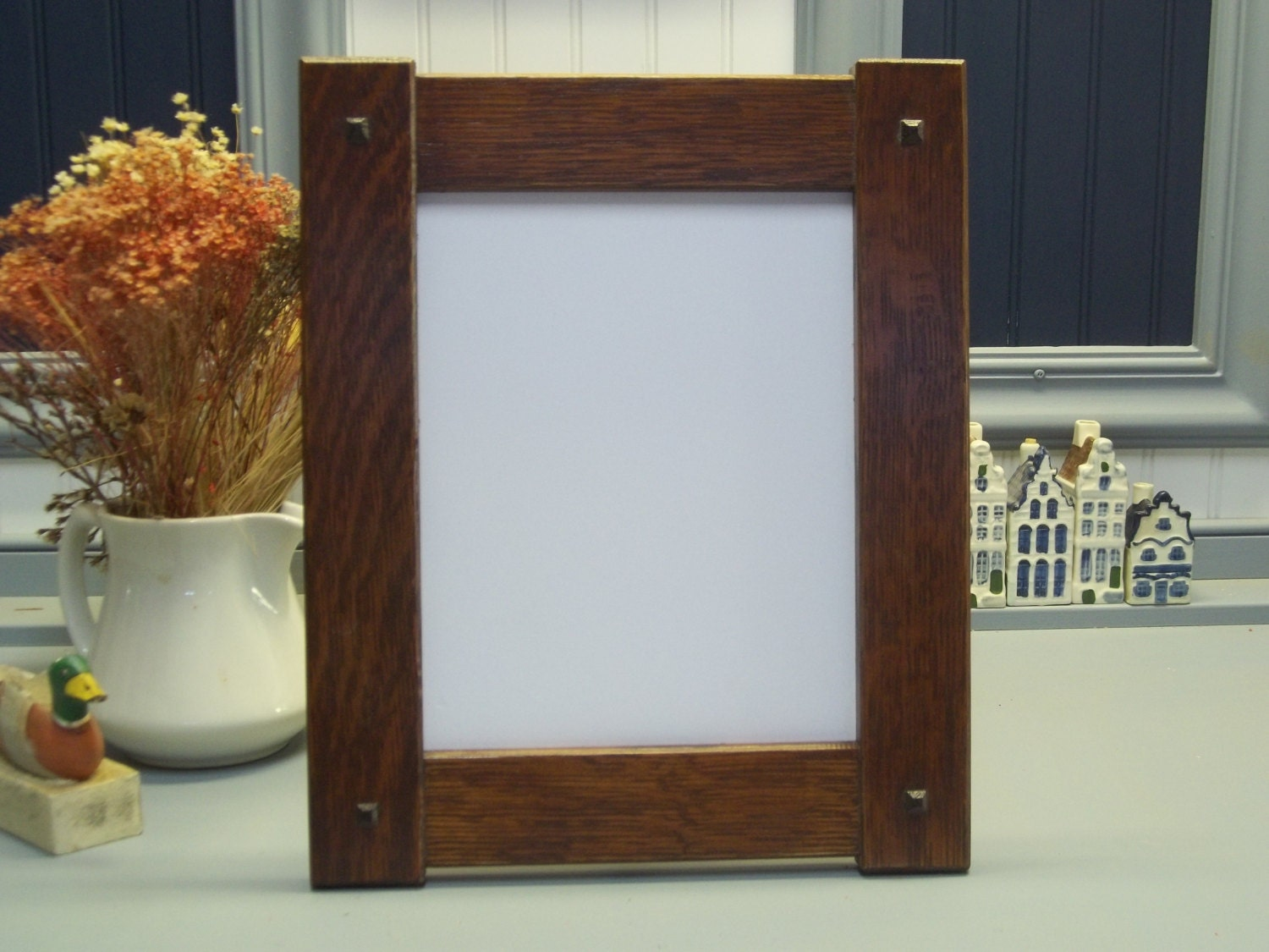 Arts craft mission style oak picture frame 8 x10 available zoom jeuxipadfo Image collections