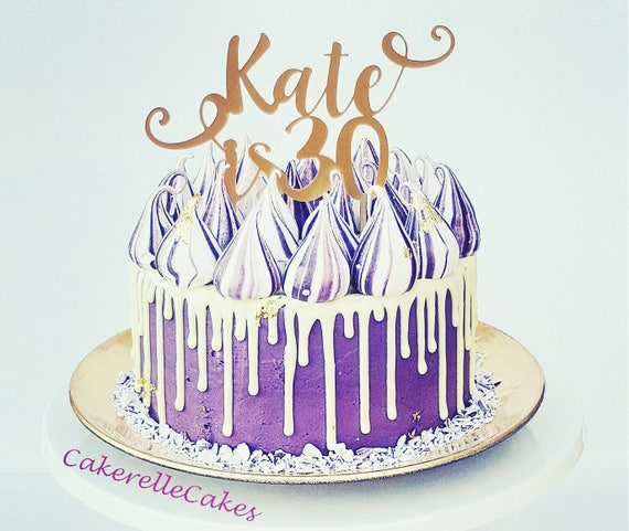 Personalised Birthday Cake Topper with name Happy 30th 40th