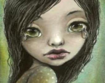 Banshee - Irish fairy - 5x7 print of an oil pastel painting by Tanya Bond
