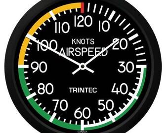 """Trintec 10"""" Modern Airspeed Round Clock 2061-10"""
