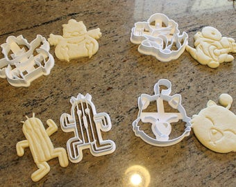 Final Fantasy XV Critters Cookie Cutters -Chocobo, Tonberry, Cactuar, Fat Chocobo, and Moogle- FFXV, FFXIV Gift