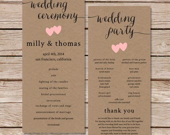 Mexican wedding programs / Wedding programs / Fiesta wedding /