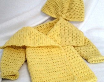 Handmade crocheted 2T toddler Jacket