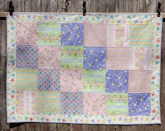 Baby Quilt / Lap Quilt  - 100% Cotton - One of a Kind