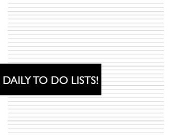 Minimal DAILY TO DO Lists!