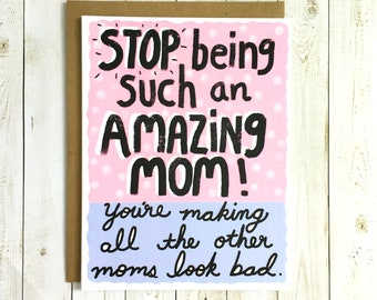 Funny Mother's Day Card, Funny Mom Card, Mother's Day Card Funny, Funny Mum Card, Cute Mother's Day Card, Mother's Day Card, Card For Mom