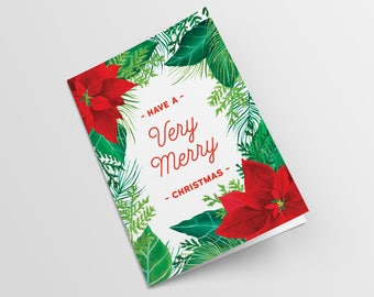 Christmas Card, Merry Christmas, Two Colours Versions, Greeting card, Digital Item, Printable
