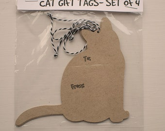 Gift Tags - Cat Shapes