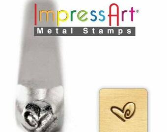 Metal Stamping Heart Stamp ImpressArt Heart Shaped Stamp For Metal Stamping 3mm Boogie Heart