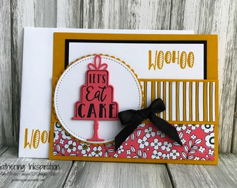 Stampin Up Handmade Greeting Card, Happy Birthday Card