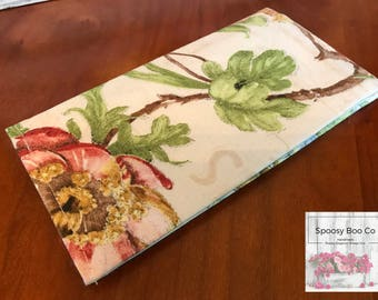 Checkbook cover coupon holder Floral French Farmhouse chic-ready to ship
