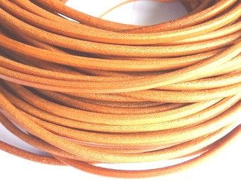 40 meters natural leather cord 3 mm PR01200