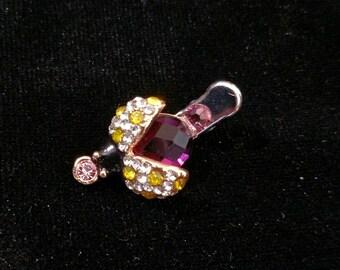 Small Crystal Ladybug Hair Jewelry