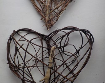Woven driftwood Hearts willow/natural hedgerow materials/Love/Valentine/St Dwynwen's/Friends/Weddings/bridesmaids