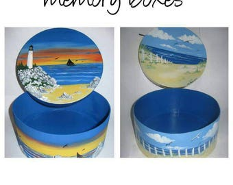 Handpainted custom memory boxes