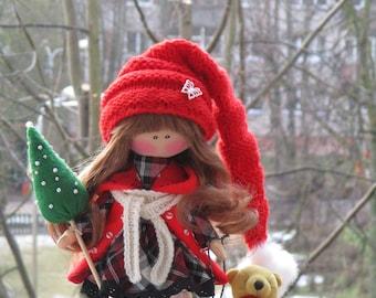 Tilda Textile Rag Doll Soft Stuffed Toy Companion Collectable Doll Keepsake Plushies Small Cuddle Cloth Doll Nursery Decor Baby Handmade