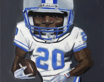 Barry Sanders, Detroit Lions Art Photo Print