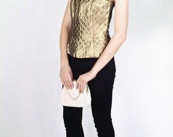 Fetoun Golden Quilted & Lined Corset