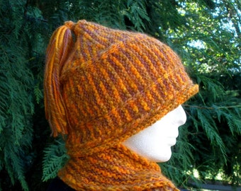 Indian Corn Striped Knitted Cap