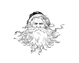 Santa Claus Card - Victorian Saint Nicholas Greeting Card
