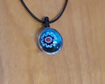Blue Burst - Handmade Glass Pendent