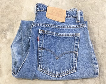 Vintage Women's Levi's 950 Jeans - Relaxed Fit Tapered Leg - 27x29