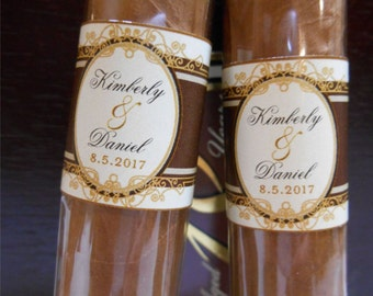 Custom Cigar Bands - Happy Birthday Cigars - Wedding Party Labels - Cigar Stickers  - Custom Birthday Cigar Bands - (16 Bands)