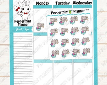 Purmaid paying bills --- Planner Stickers --- 914
